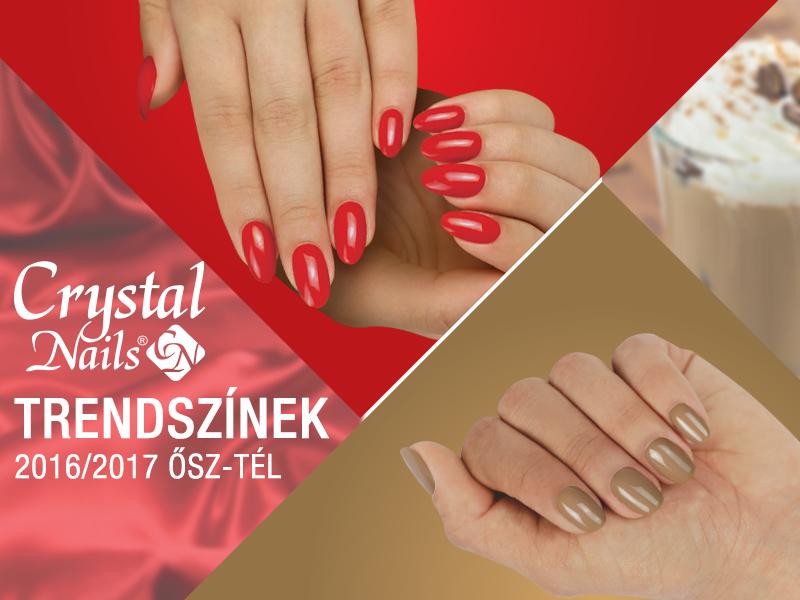 Crystal Nails trendszínek 2016/2017 ősz-tél