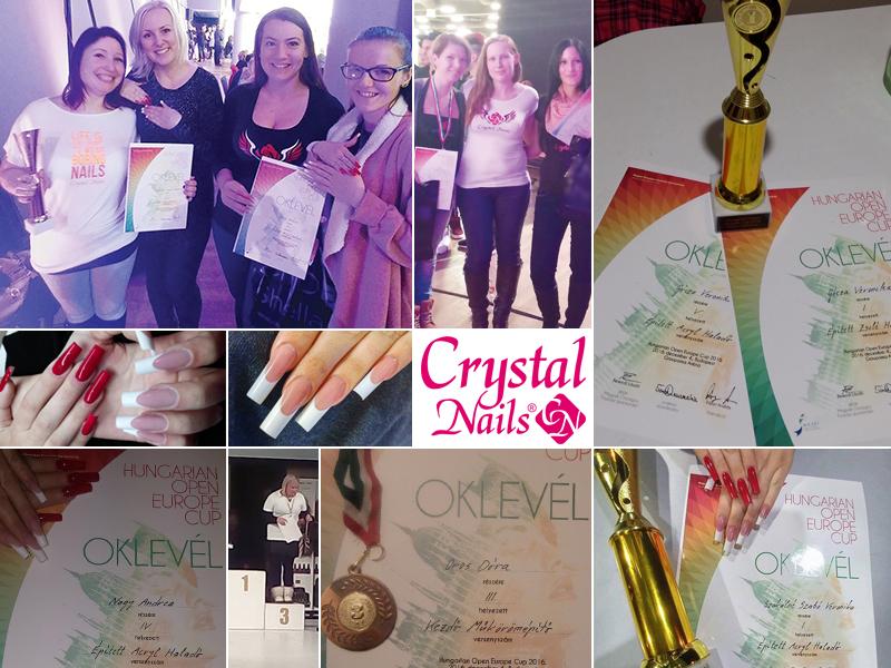 Három Crystal Nails érem a Hungarian Open Europe Cup versenyen
