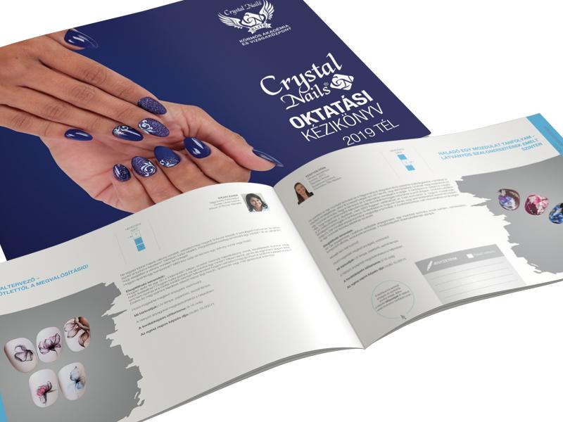 Megjelent! Crystal Nails 2019/2020 Tél Oktatási katalógus