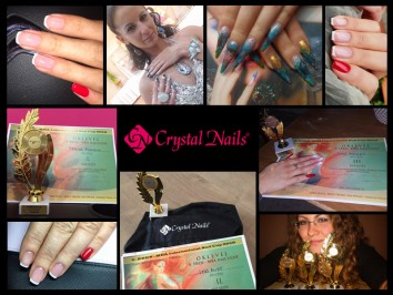 Crystal érmek az érdi Műköröm Építő- és Díszítő versenyen