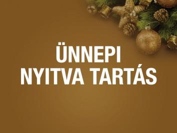 Decemberi és ünnepi nyitva tartás