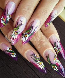 Újvári Barbara - edge körmök - akril Nail Art