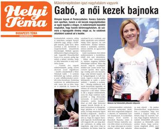 Helyi téma - Gabó, a női kezek bajnoka - 2011-05-05