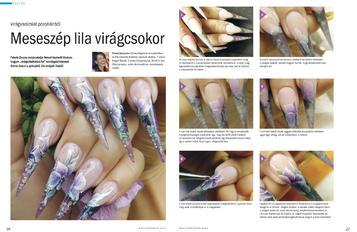 Nailpro - Meseszép lila virágcsokor step by step