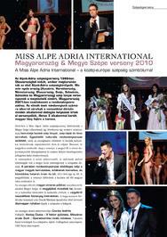 MISS ALPE ADRIA INTERNATIONAL - Magyarország & Megye Szépe verseny 2010
