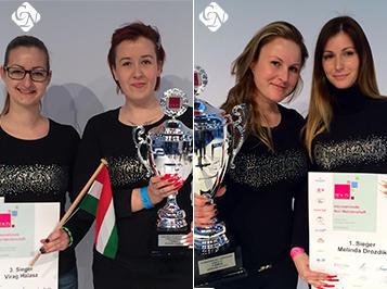 Düsseldorfi sikerek: Crystal Nails világbajnoki aranyérem zselében és bronzérem porcelánban