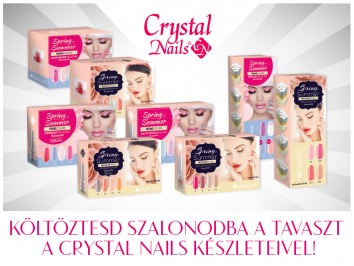 Költöztesd szalonba a tavaszt a Crystal Nails Bestseller Colors Spring/Summer és Trend Colors Spring/Summer készleteivel