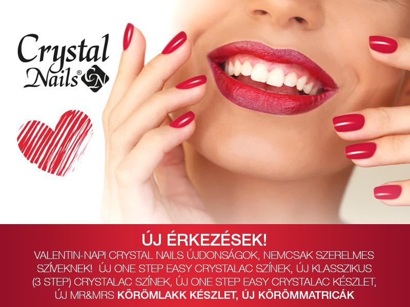 Új érkezés! Valentin-napi Crystal Nails újdonságok, nem csak szerelmes szíveseknek!