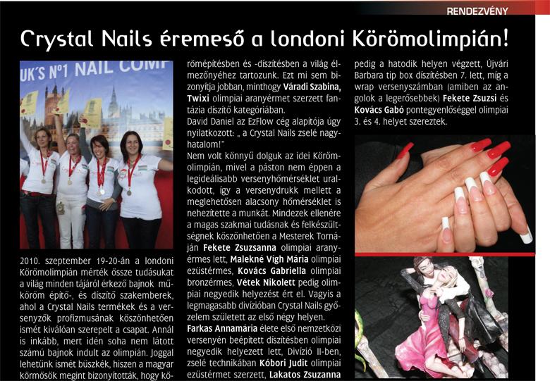 Szépvilág Extra - Éremeső a londoni Körömolim - 2010-10-15