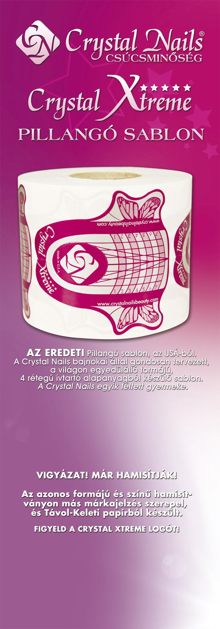Nailpro - Crystal Xtreme pillangó sablon