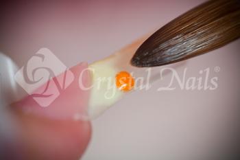 A szabadszéli területen színátmenetet készítek vanília sárgával és narancssárgával.