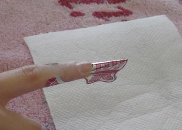 Crystal Nails Pillangó sablon felhelyezése