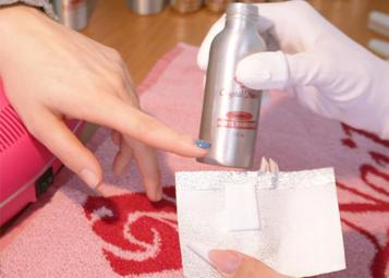 Felhasználandó anyagok: Áztató fólia, Acryl Remover